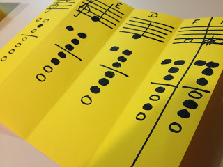 Marvelous Mondays – Recorder fingering chart foldable