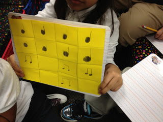 Composing Rhythms in 2nd grade