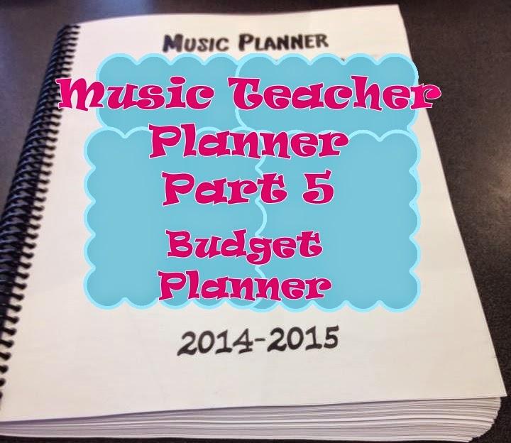Music Teacher Planner and Management Notebook- part 5 – budget planner