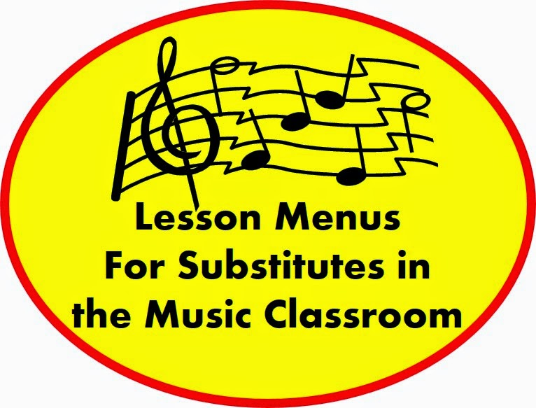 Lesson Menus For Substitutes in the Music Classroom – FREE DOWNLOAD!