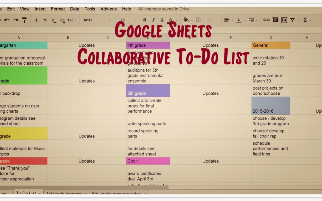 The Collaborative To-Do list!  – Google Sheets to the Rescue