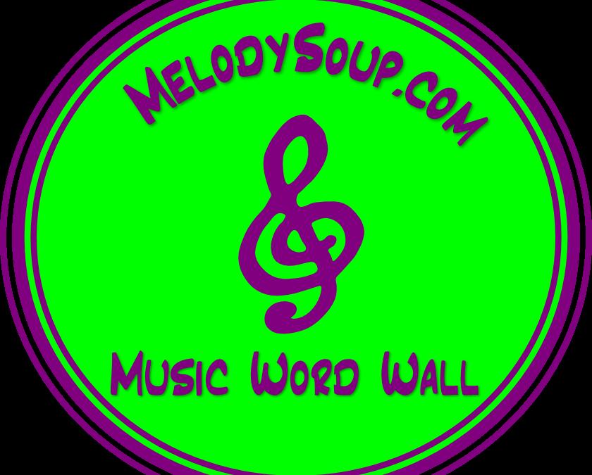 2015 Word Wall -Set 4 World Instruments