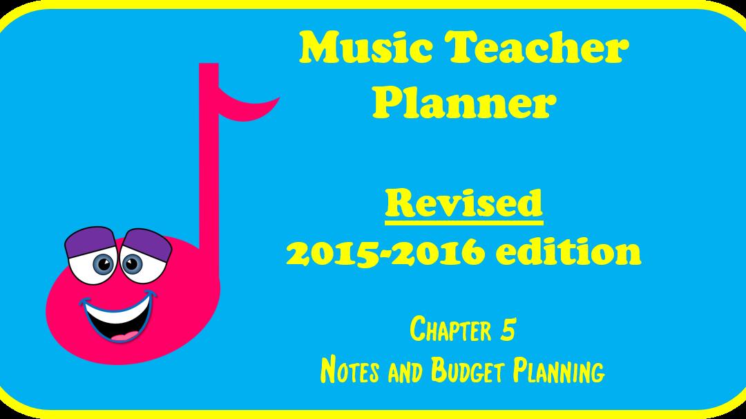 2015-2016 Music Teacher Planner – Chapter 5