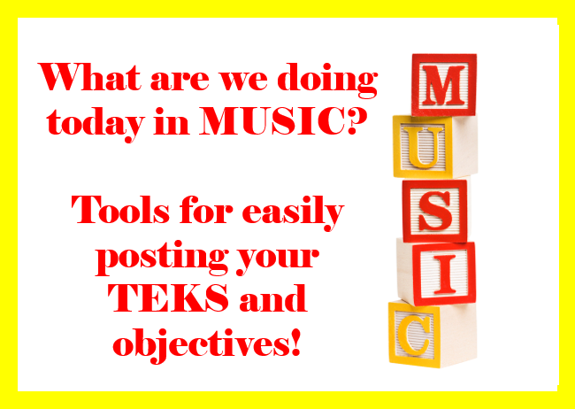 Tools for easily posting your TEKS and objectives! – FREE Download!